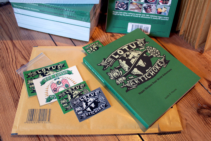 Out now! The Lotus and the Artichoke Cookbook + Stickers + Bookmark