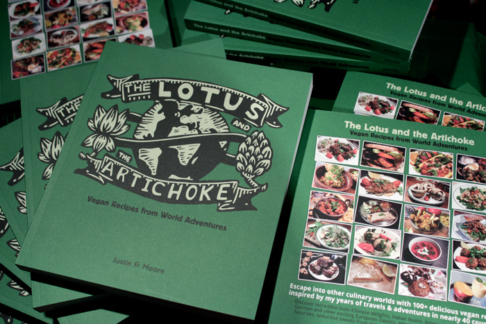 The Lotus and the Artichoke - Vegan Cookbook - Front &amp; Back Cover