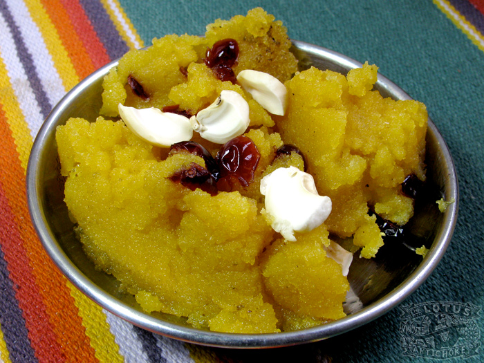Indian Sweets: Vegan Halava - The Lotus and the Artichoke