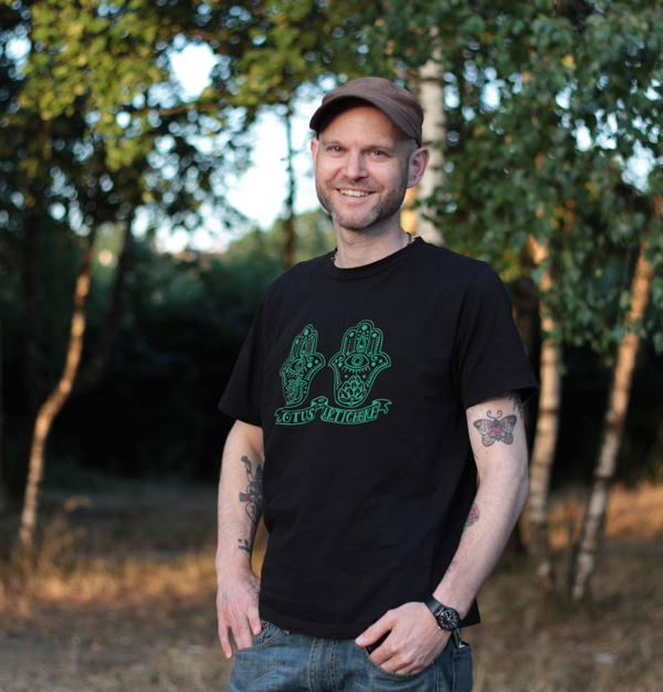 Justin P. Moore – author & artist of The Lotus and the Artichoke – Vegan Recipes from World Adventures