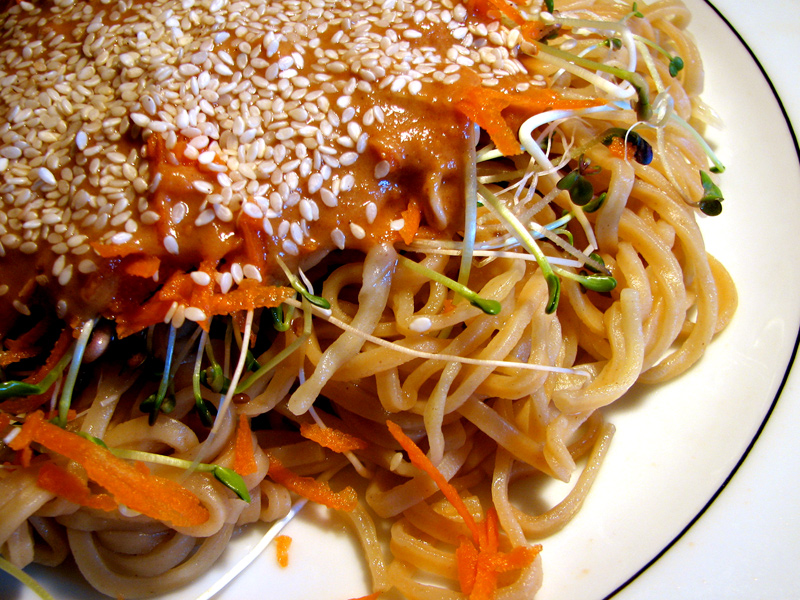 Sesame Cold Noodles - The Lotus and the Artichoke