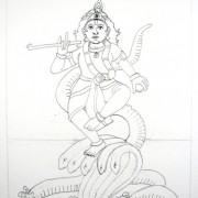 Krishna-Kaliya---Process_1232 sketch for painting