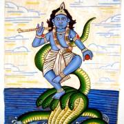 Krishna-Kaliya---Process_1289 painting