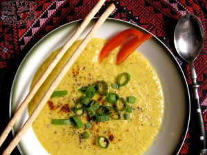 Carrot Ginger Zucchini Soup - The Lotus and the Artichoke vegan cookbook