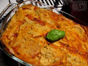 Vegan Lasagna with zucchini and mushroom and smoked tofu - The Lotus and the Artichoke