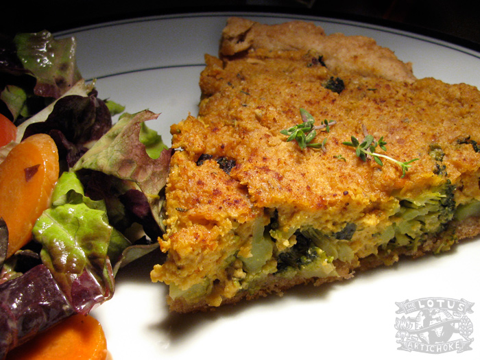Vegan Quiche with Broccoli : French - The Lotus and the Artichoke - Vegan Cookbook