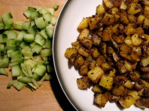 Vegan Raita - Masala Potato Cumber : North Indian - The Lotus and the Artichoke vegan cookbook