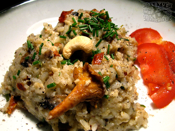 Cashew Mushroom Risotto : Italian - The Lotus and the Artichoke vegan cookbook