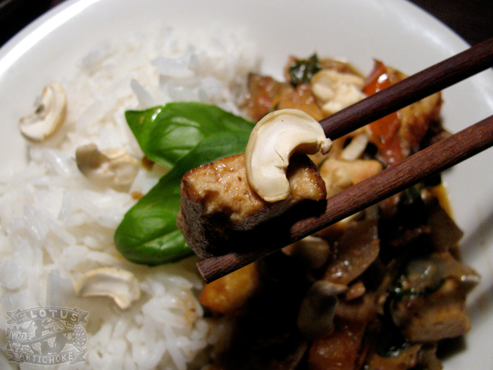 Eggplant Basil Coconut Tofu Curry : Thai - The Lotus and the Artichoke