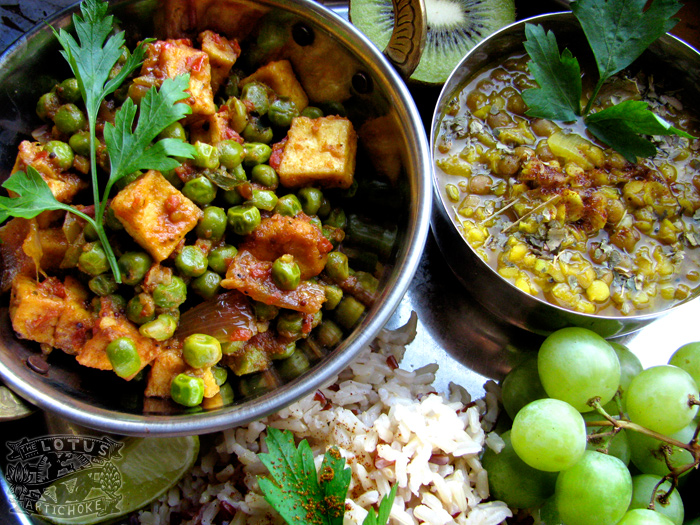 Mutter tofu paneer north indian the lotus and the artichoke mutter paneer tofu north indian the lotus and the artichoke vegan cookbook forumfinder Image collections