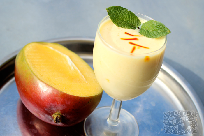 Indian: Vegan Lassi with Saffron and Mango - The Lotus and the Artichoke - World Travel Vegan Recipes