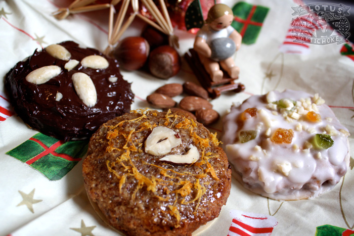 German Lebkuchen Cookies - The Lotus and the Artichoke - Vegan Cookbook