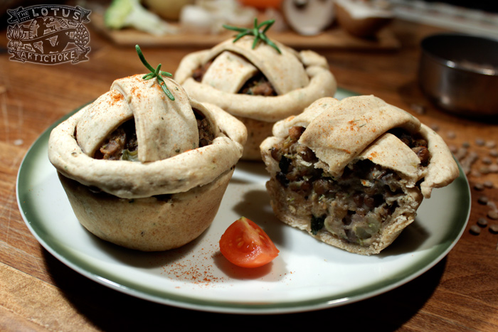 Vegetable Lentil Pot Pies - English - The Lotus and the Artichoke