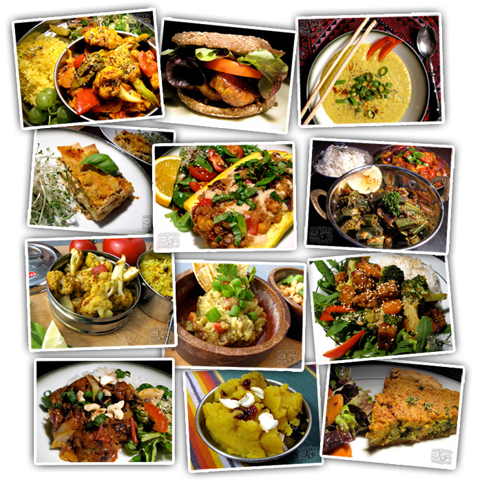 Cookbook Photos Grid - Vegan Recipes - The Lotus and the Artichoke