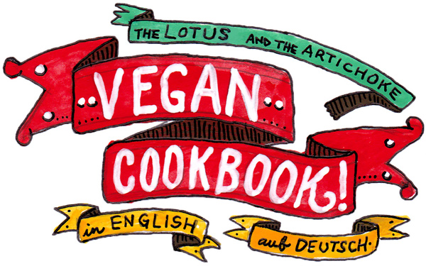 Vegan Cookbook - Veganes Kochbuch - Tattoo Banners Art - in English &amp; auf Deutsch