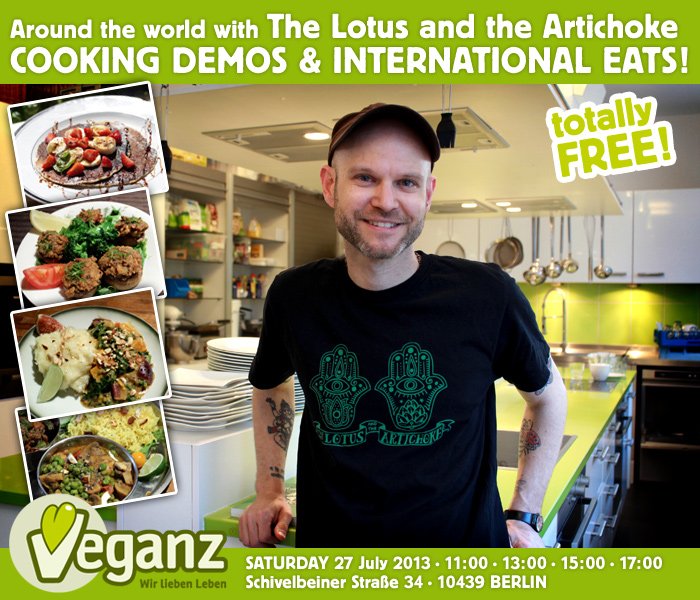 Around the World with The Lotus and the Artichoke - Cooking Demo at Veganz in Berlin Prenzlauer Berg