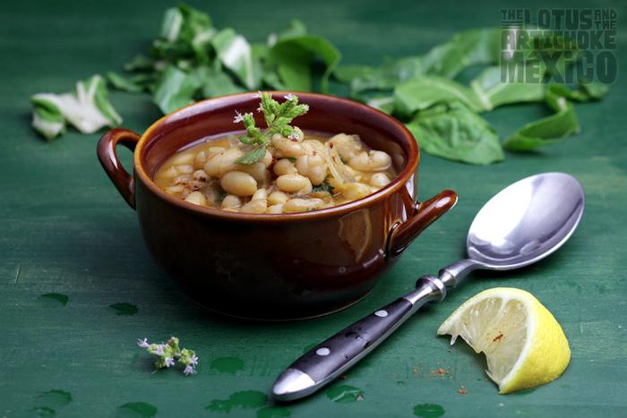 White Bean Soup - The Lotus and the Artichoke MEXICO Vegan Cookbook