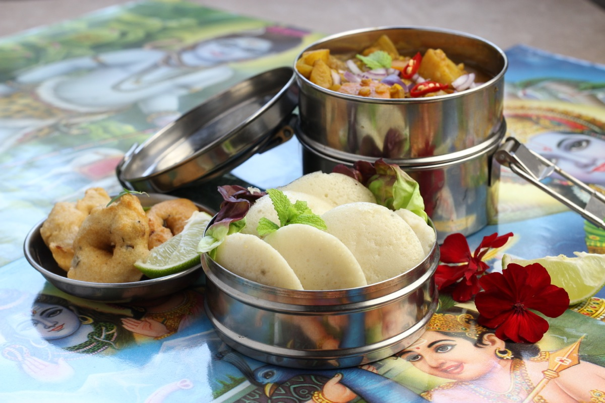 Sri lanka vegan cookbook the lotus and the artichoke idly vada sri lankan south indian lunchbox tiffin forumfinder Choice Image