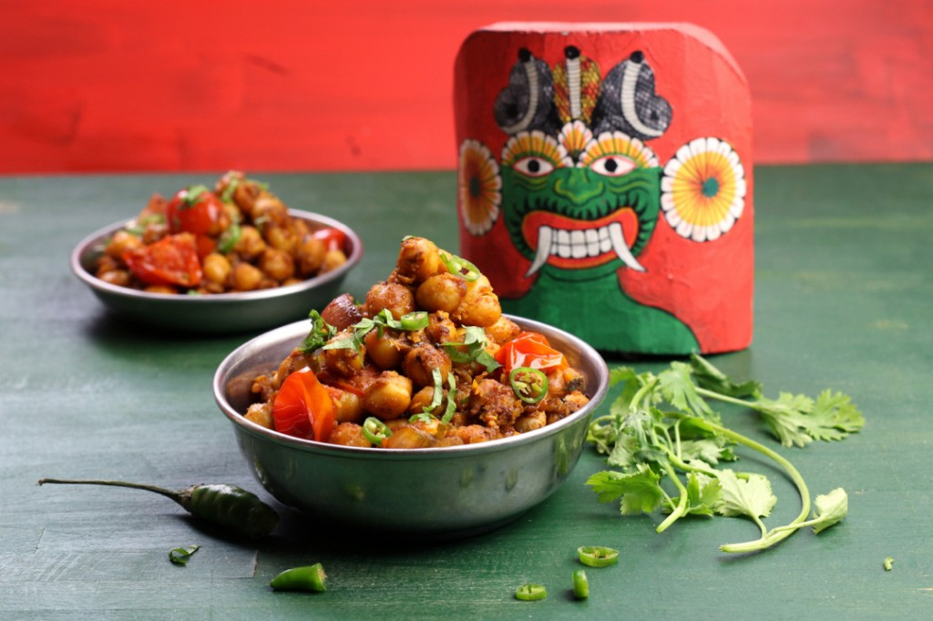 Deviled Chickpeas - Kadala Thel Dala from The Lotus and the Artichoke - SRI LANKA vegan cookbook