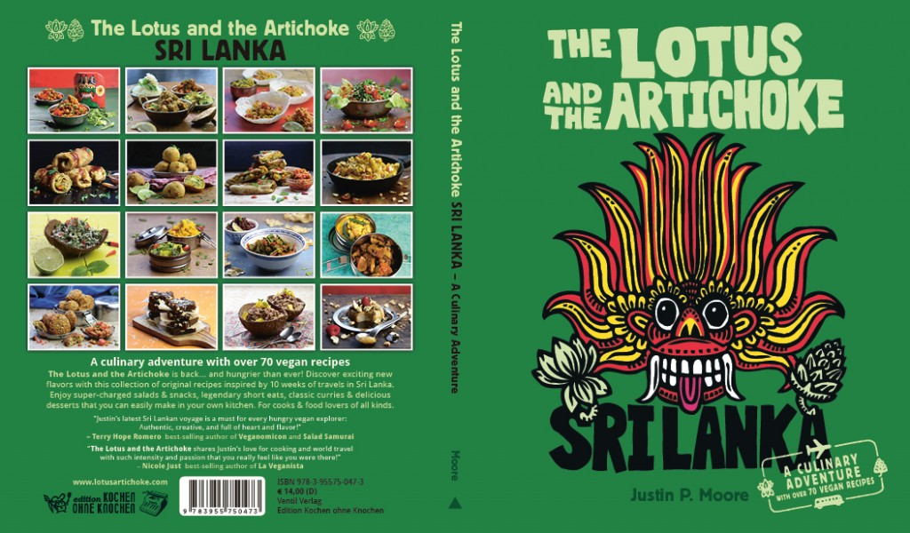 The Lotus and the Artichoke - SRI LANKA vegan cookbook cover
