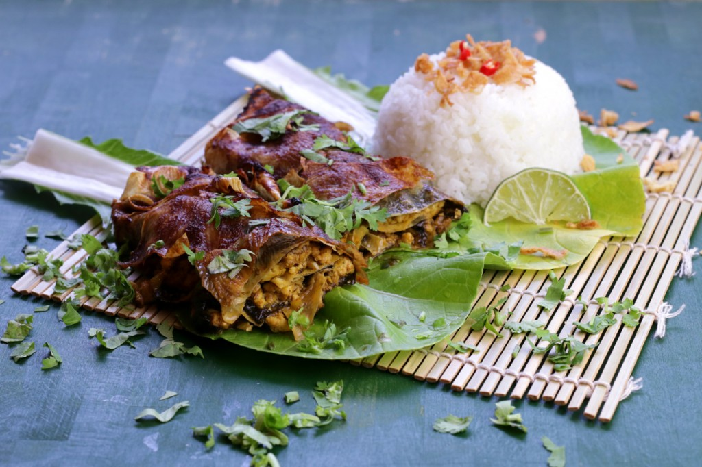 Assam Tofu Fish from The Lotus and the Artichoke MALAYSIA vegan cookbook