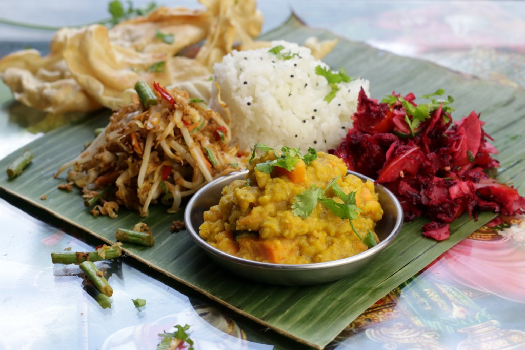 Banana Leaf Curry from The Lotus and the Artichoke MALAYSIA vegan cookbook