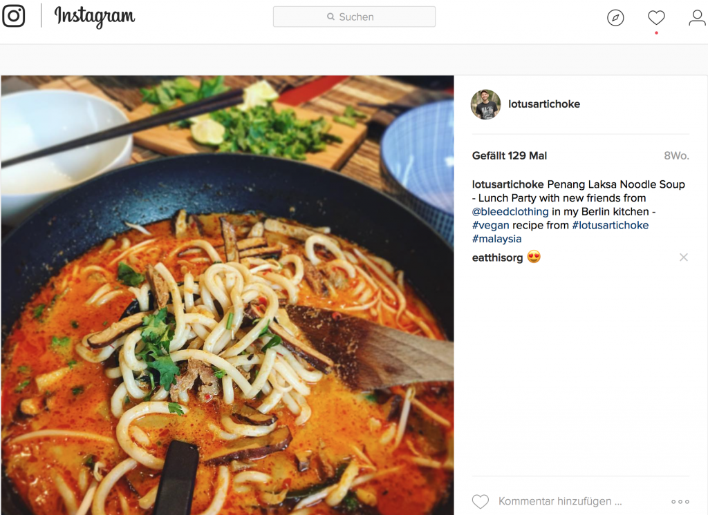 Penang Laksa Malaysian Noodle Soup by The Lotus and the Artichoke - Instagram (Jan 2017)