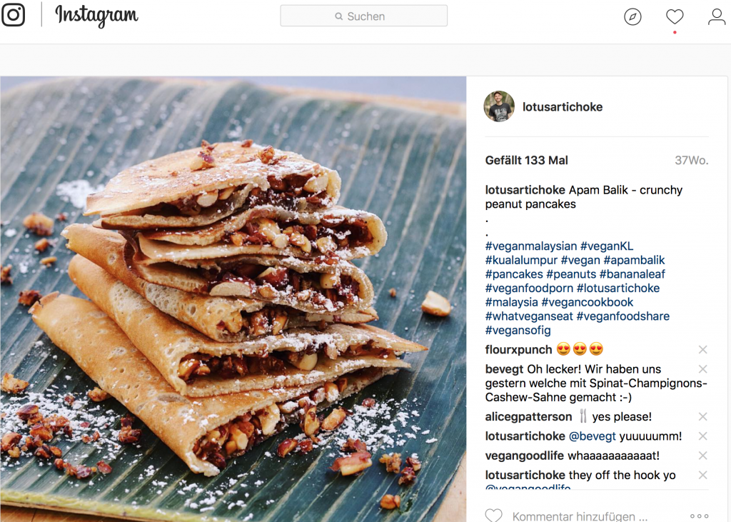 Apam Balik - Malaysian Peanut Pancakes on Instagram (The Lotus and the Artichoke)