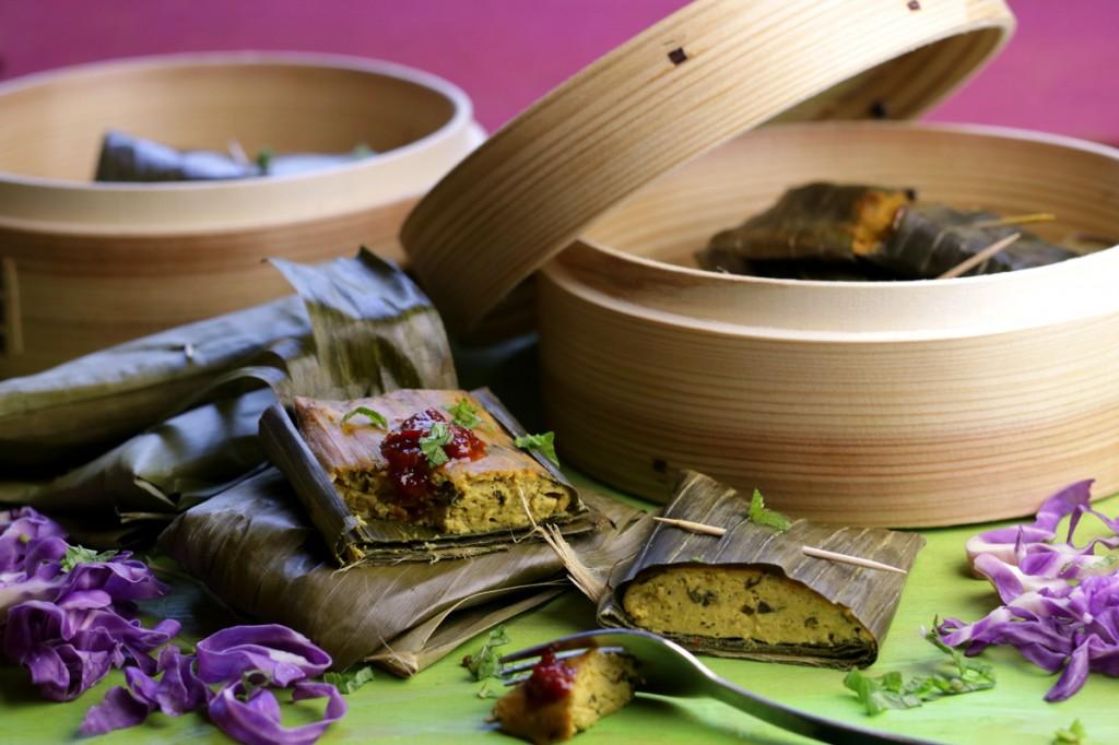 Otak from The Lotus and the Artichoke MALAYSIA vegan cookbook