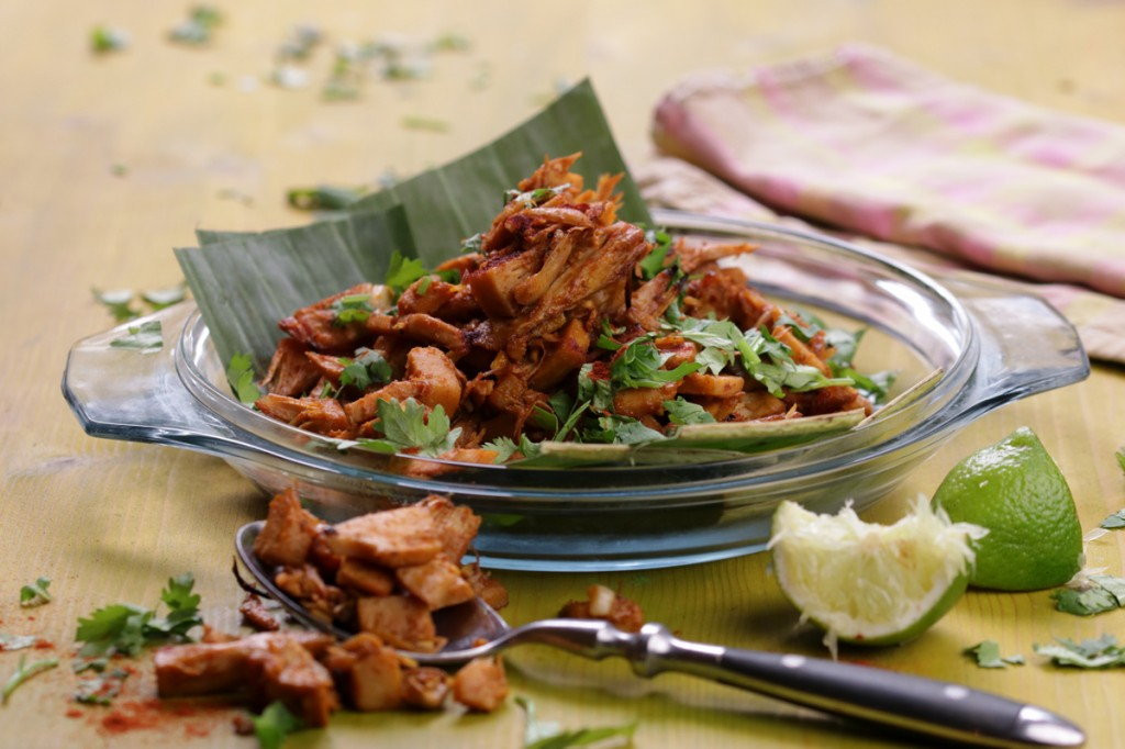 Hong Shao Rou - Roasted Jackfruit from The Lotus and the Artichoke MALAYSIA vegan cookbook