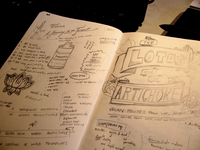 Behind the Scenes: Sketches - The Lotus and the Artichoke