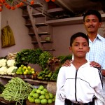 South India Street Food - Amravati - Subji Wallah / The Veg Man and Son - The Lotus and the Artichoke Travels