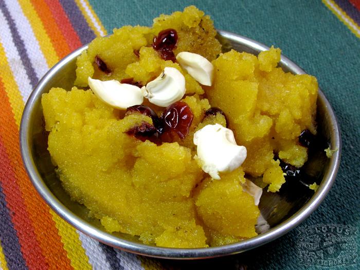 Indian Sweets: Vegan Halava - The Lotus and the Artichoke