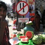 South India Street Food - Mysore - Spicy Watermelon Cart - The Lotus and the Artichoke Travels