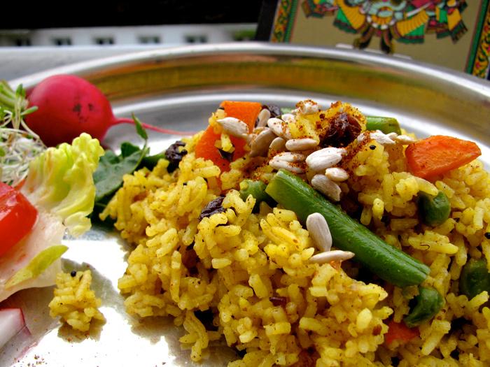 Vegan Vegetable Biryani - The Lotus and the Artichoke