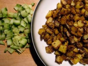 Vegan Raita - Masala Potato Cumber : North Indian - The Lotus and the Artichoke vegan cookbook