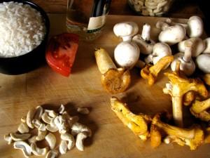 Vegan Risotto recipe - Cashew Mushroom with Sundried Tomato : Italian - The Lotus and the Artichoke vegan cookbook