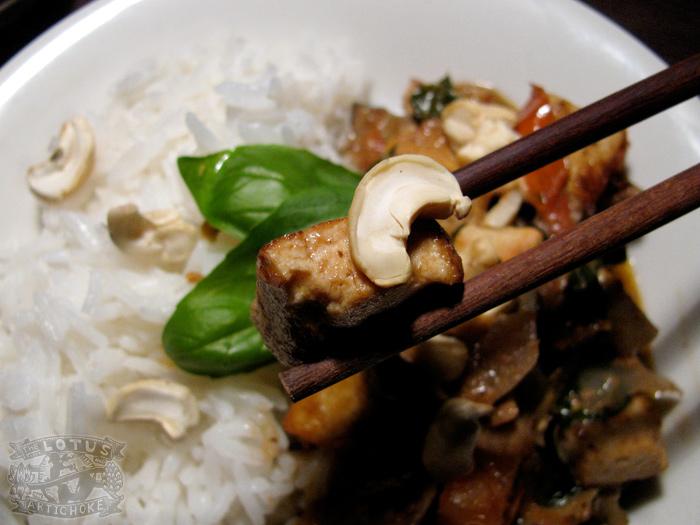 Eggplant Basil Coconut Tofu Curry : Thai - The Lotus and the Artichoke