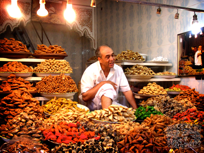 Marrakech, Morocco - Treats and Dried Fruit - The Lotus and the Artichoke - travel adventures