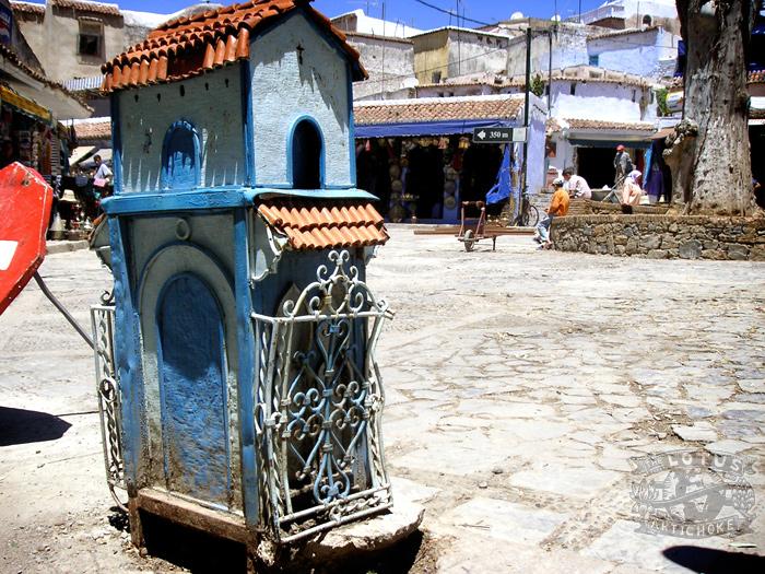 Chefchouen, Morocco - Blue City, Main Square - The Lotus and the Artichoke - Vegan Cookbook
