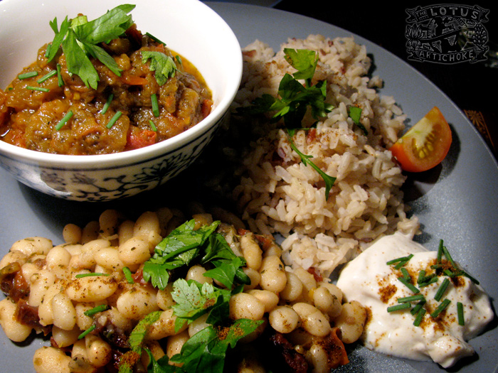 Mirza Ghasemi - Persian Eggplant dish (not quite from Iran)