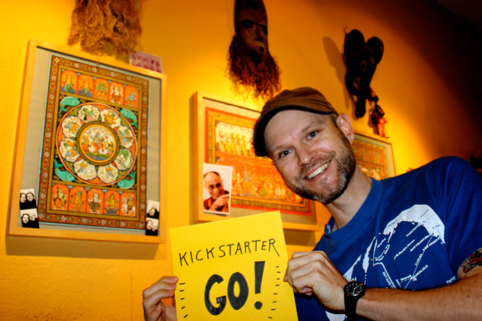 Vegan Cookbook Kickstarter GO! - Justin in the kitchen