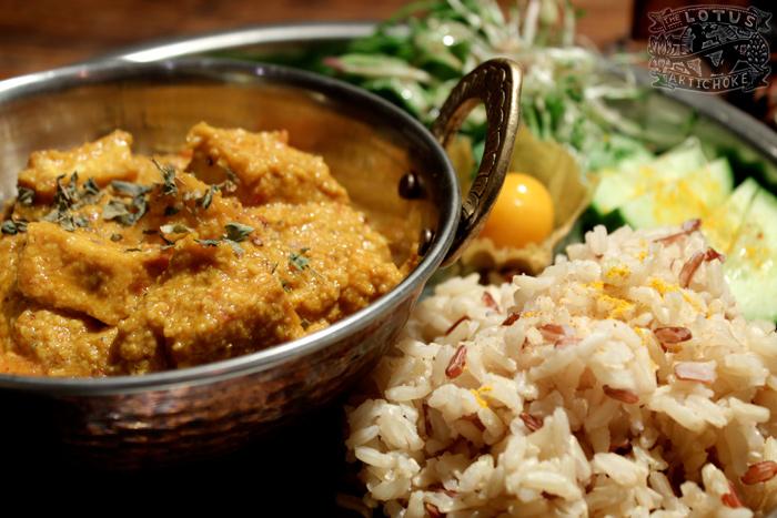 Vegan Paneer Makhani - North Indian - The Lotus and the Artichoke - Vegan Recipes from World Travel Adventures