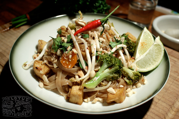 Vegetable Pad Thai with tofu - The Lotus and the Artichoke - Vegan Recipes from World Adventures