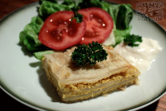 Gibanica - Croatian Cheese Pie - The Lotus and the Artichoke - Vegan Recipes from World Adventures