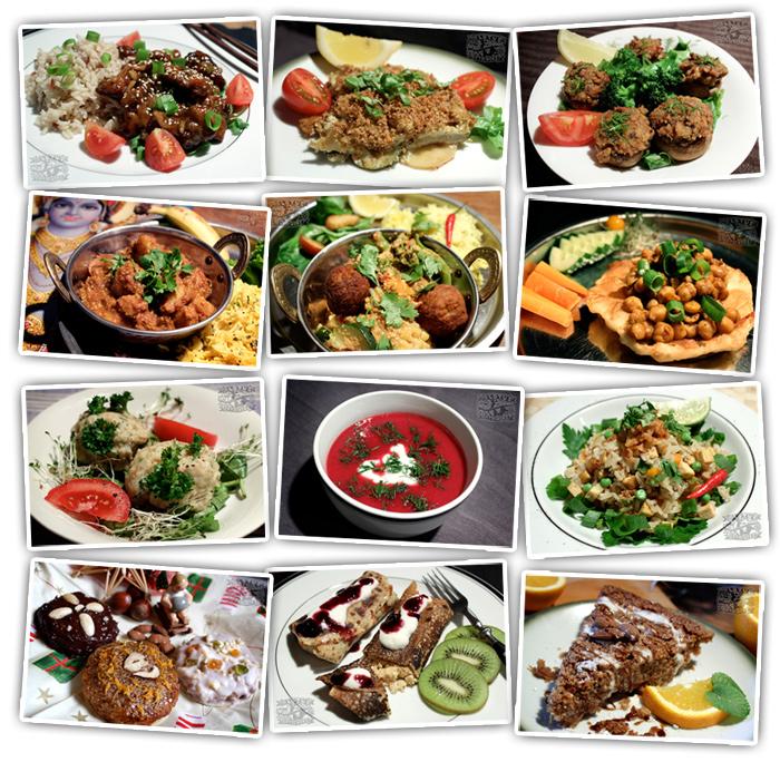 Cookbook Photos Grid 2 - Vegan Recipes - The Lotus and the Artichoke