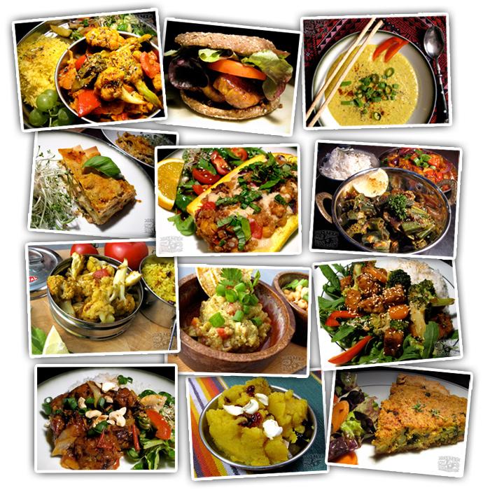 Cookbook Photos Grid - Vegan Recipes - The Lotus and the Artichoke