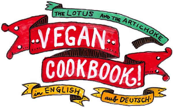 Vegan Cookbook - Veganes Kochbuch - Tattoo Banners Art - in English & auf Deutsch