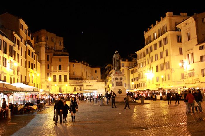 Rome - Campo de Fiori - The Lotus and the Artichoke - Vegan Recipes from World Adventures