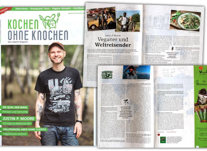 Interview Kochen ohne Knochen Das Vegane Magazin Justin P. Moore layout